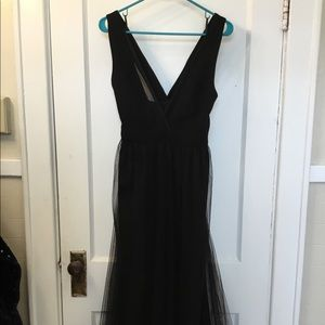 Long Tule Black Dress